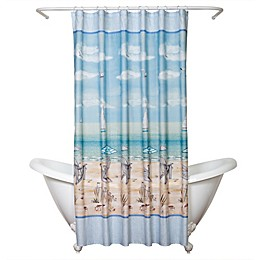 Zenna Home® Seaside Serenity Shower Curtain in Blue and Natural
