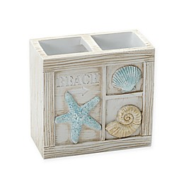 Zenna Home® Seaside Serenity Toothbrush Holder in Blue and Natural