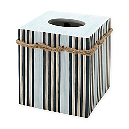 Zenna Home® Seaside Serenity Boutique Tissue Box Cover in Blue and Natural