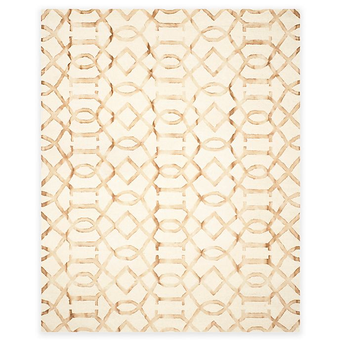 Alternate image 1 for Safavieh Dip Dye Entwine 9-Foot x 12-Foot Hand-Tufted Wool Area Rug in Ivory/Camel