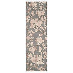 Safavieh Dip Dye Roses 2-Foot 3-Inch x 6-Foot Hand-Tufted Wool Area Rug in Grey/Beige