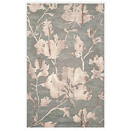 Safavieh Dip Dye Roses 4-Foot x 6-Foot Hand-Tufted Wool Area Rug in Grey/Beige