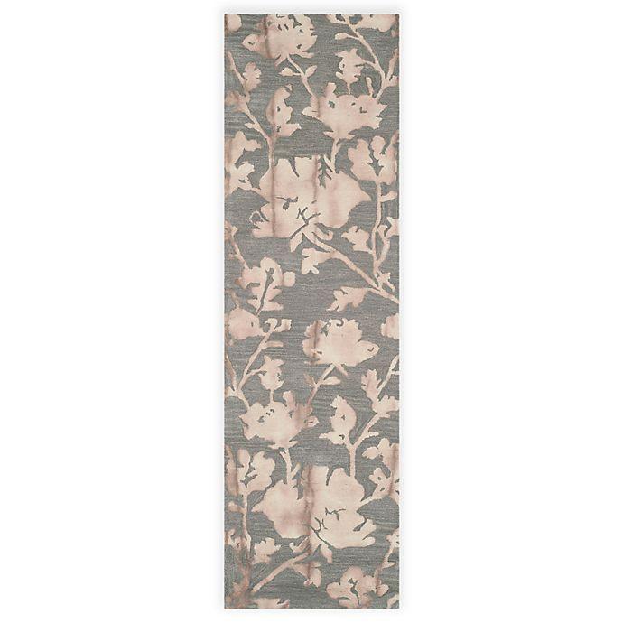 Alternate image 1 for Safavieh Dip Dye Roses 2-Foot 3-Inch x 12-Foot Hand-Tufted Wool Area Rug in Grey/Beige