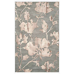 Safavieh Dip Dye Roses 5-Foot x 8-Foot Hand-Tufted Wool Area Rug in Grey/Beige