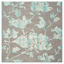 Safavieh Dip Dye Roses 7-Foot x 7-Foot Hand-Tufted Wool Area Rug in Grey/Turquoise
