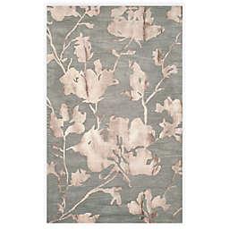 Safavieh Dip Dye Roses 6-Foot x 9-Foot Hand-Tufted Wool Area Rug in Grey/Beige
