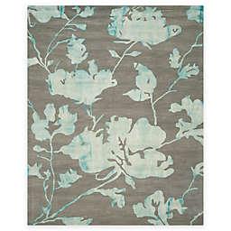 Safavieh Dip Dye Roses 8-Foot x 10-Foot Hand-Tufted Wool Area Rug in Grey/Turquoise
