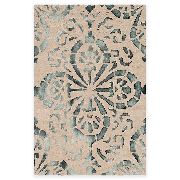 Alternate image 1 for Safavieh Dip Dye Floral Medallion 3-Foot x 5-Foot Hand-Tufted Wool Area Rug in Camel/Grey