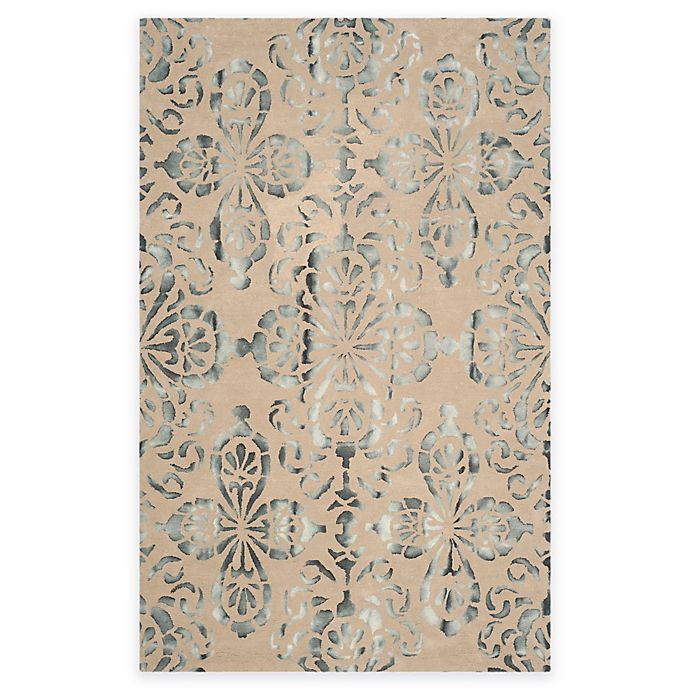 Alternate image 1 for Safavieh Dip Dye Floral Medallion 8-Foot x 10-Foot Hand-Tufted Wool Area Rug in Camel/Grey