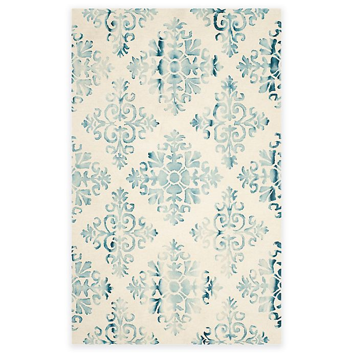 Damask Hand-Tufted Wool Area Rug