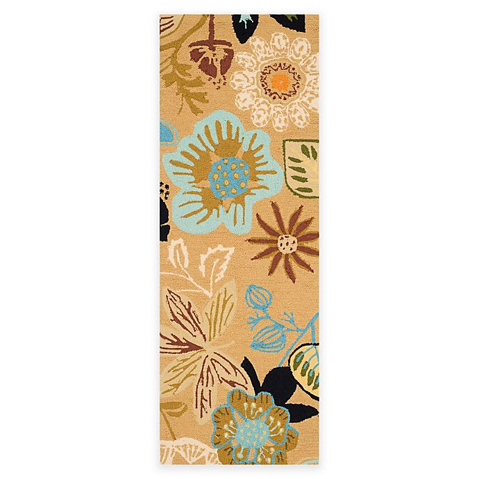 Alternate image 1 for Safavieh Four Seasons Wonderland 2-Foot x 6-Foot Area Rug in Taupe