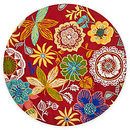 Safavieh Four Seasons Wonderland 8-Foot Round Area Rug in Red