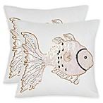 Safavieh Kissy Fish Square Throw Pillows in Pearlescent (Set of 2)