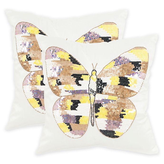 Alternate image 1 for Safavieh Papillon Square Throw Pillows in Sorbet Shimmer (Set of 2)