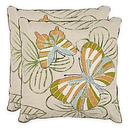 Safavieh Casandra Throw Pillow in Multi/Cream (Set of 2)