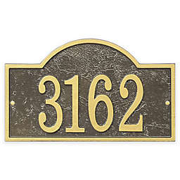 Whitehall Products Fast & Easy Arch House Numbers Plaque in Bronze/Gold