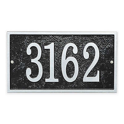 Whitehall Products Fast & Easy Rectangle House Numbers Plaque