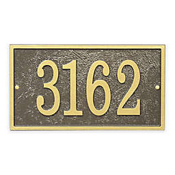 Whitehall Products Fast & Easy Rectangle House Numbers Plaque in Bronze/Gold