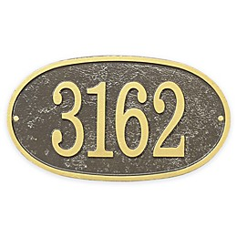 Whitehall Products Fast & Easy Oval House Numbers Plaque
