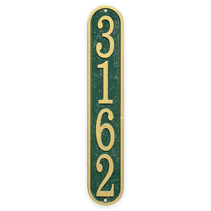 Alternate image 1 for Whitehall Products Fast & Easy Vertical House Numbers Plaque