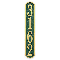 Whitehall Products Fast & Easy Vertical House Numbers Plaque