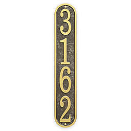 Whitehall Products Fast & Easy Vertical House Numbers Plaque in Bronze/Gold