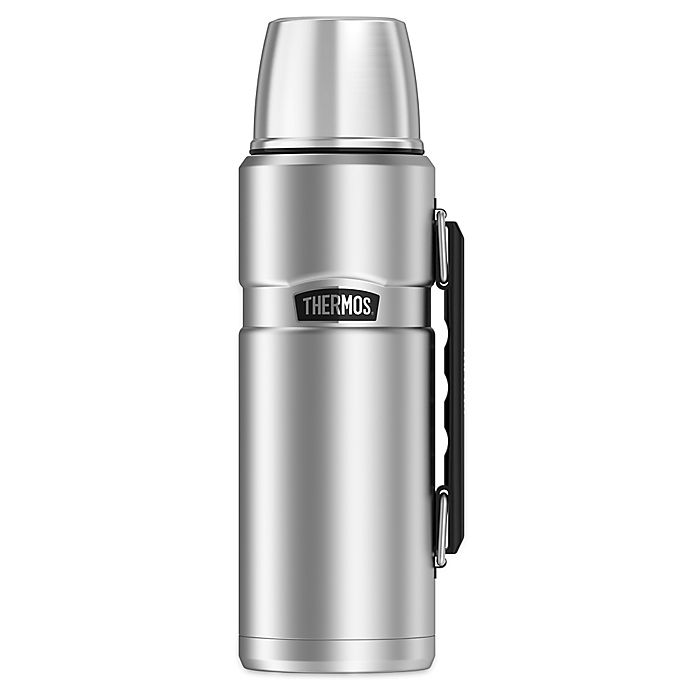 Alternate image 1 for Thermos® Stainless Steel King™ 40 oz. Vacuum Insulated Travel Tumbler in Stainless Steel