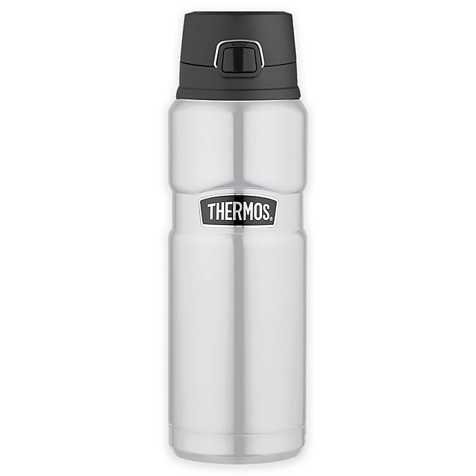 Alternate image 1 for Thermos® Stainless Steel King™ 24 oz. Vacuum Insulated Travel Tumbler in Silver