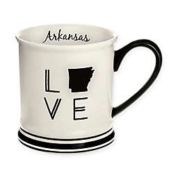 Formations Arkansas State Love Mug in Black and White