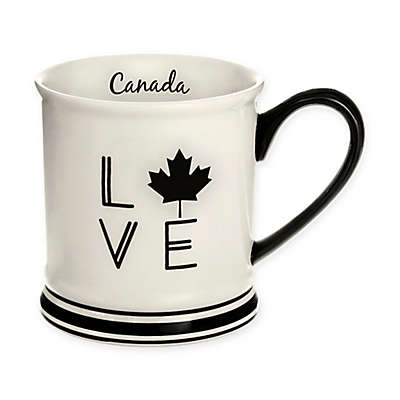 Formations Canada Love Mug in Black and White