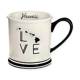 Formations Hawaii State Love Mug in Black and White