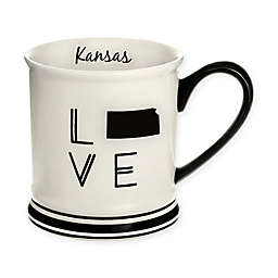 Formations Kansas State Love Mug in Black and White