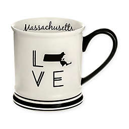 Formations Massachusetts State Love Mug in Black and White