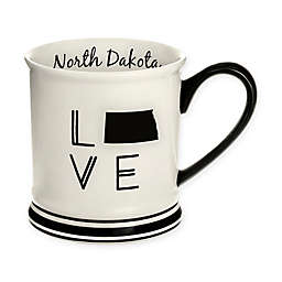 Formations North Dakota State Love Mug in Black and White
