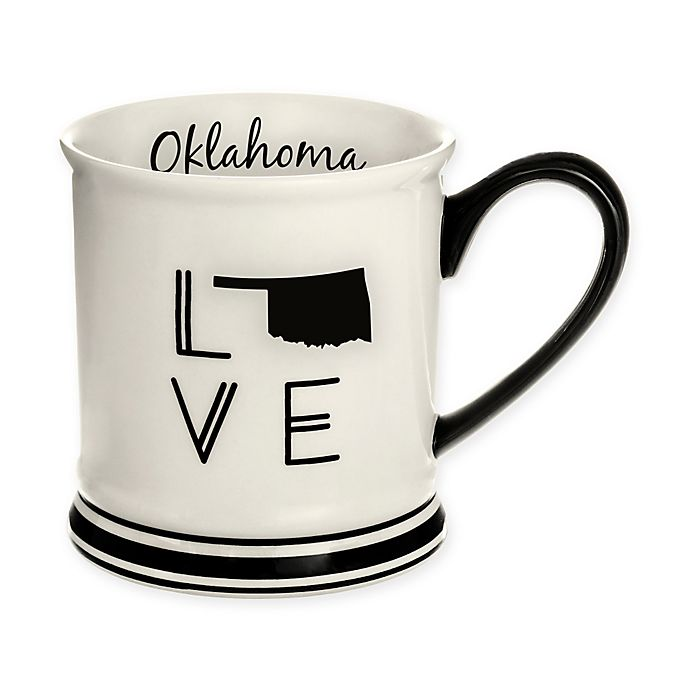 Alternate image 1 for Formations Oklahoma State Love Mug in Black and White