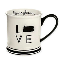 Formations Pennsylvania State Love Mug in Black and White
