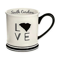 Formations South Carolina State Love Mug in Black and White