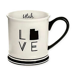 Formations Utah State Love Mug in Black and White
