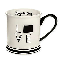Formations Wyoming State Love Mug in Black and White