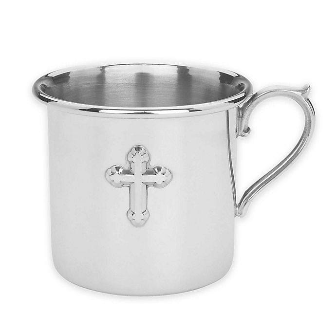 Alternate image 1 for Reed & Barton Cross Baby Cup in Pewter