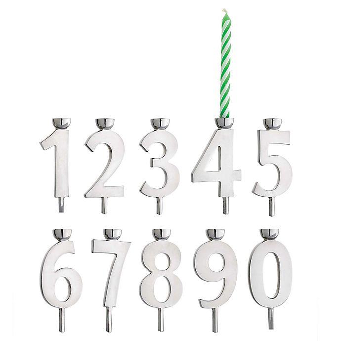Alternate image 1 for Reed & Barton Let's Celebrate Number Candle Holder Set