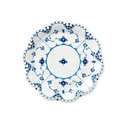 Royal Copenhagen Fluted Full Lace Round Dish in Blue