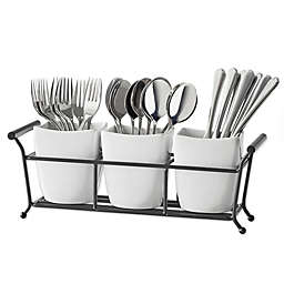 B. Smith® 4-Piece Flatware Caddy in White