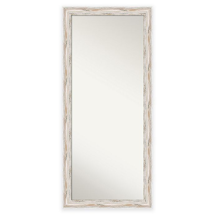 Alternate image 1 for 29-Inch x 65-Inch Alexandria Floor Mirror in Distressed White