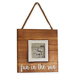 """Mud Pie® """"Fun in the Sun"""" 3-Inch x 3-Inch Hanging Picture Frame"""