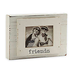 "Mud Pie® ""Friends"" 3-Inch x 4-Inch Wood Block Photo Frame"