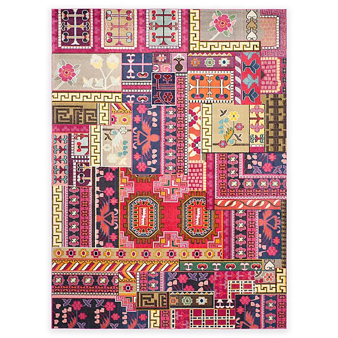 Alternate image 1 for Safavieh Monaco Jade 9-Foot x 12-Foot Area Rug in Pink Multi