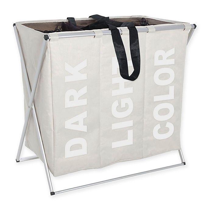Alternate image 1 for Wenko Trio Laundry Bin in Beige