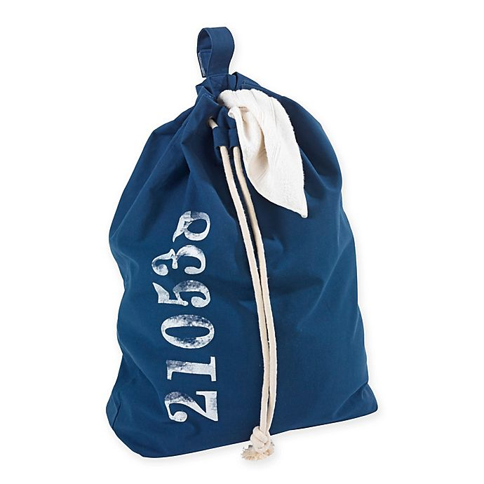 Alternate image 1 for Wenko Sailor Laundry Bag in Blue
