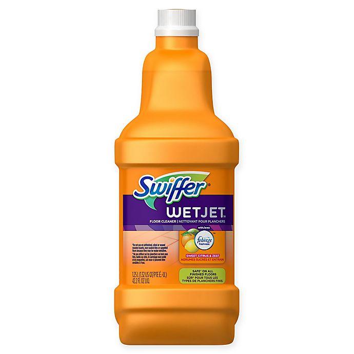 Swiffer Wetjet Sweet Citrus And Zest Floor Cleaner Bed